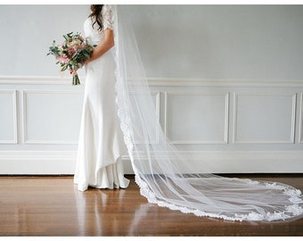 Heirloom Wedding Veil with Your Vintage Lace
