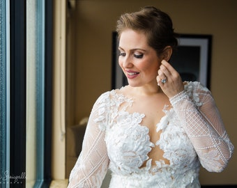 Natalie: Lace Wedding Gown with Sleeves