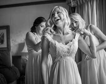 Michelle: Ethereal Lace and Chiffon Wedding Gown