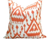 Vientiane Ikat Print pillow cover in Coral