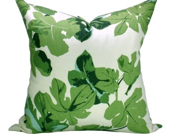 Fig Leaf pillow cover in Faded on Hemp