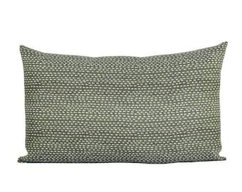 Kantha lumbar pillow cover in Willow