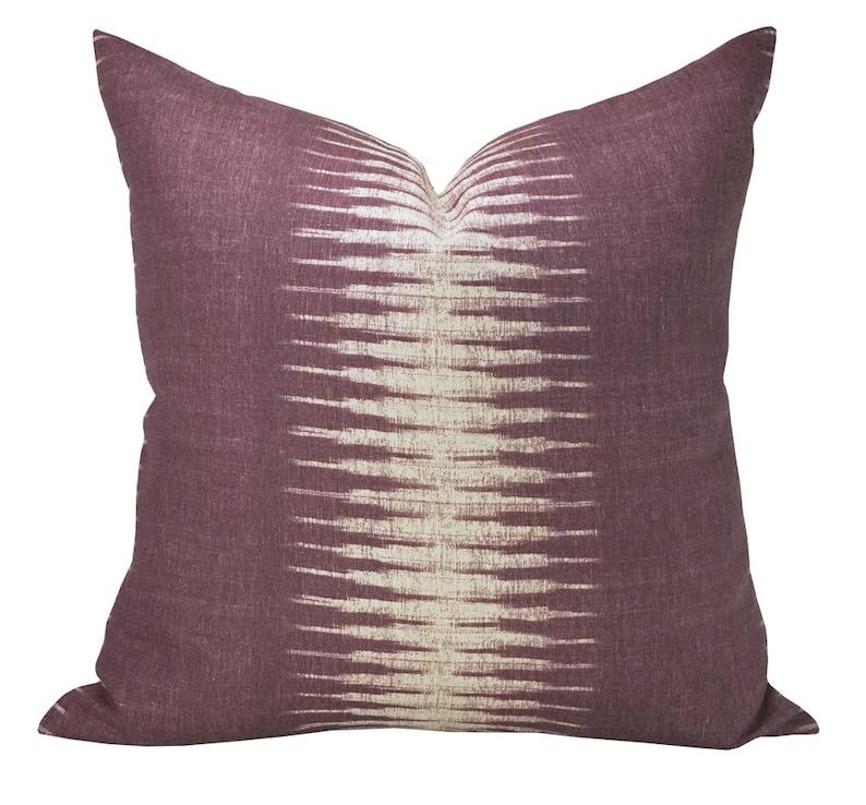 Pillow cover Ikat Pasha ON BOTH SIDES stripe Spark Modern image 0