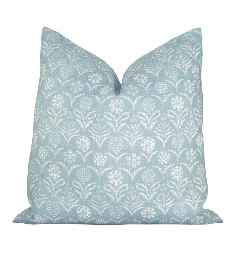Pillow cover Paradeiza Sky Blue geometric floral Spark image 0