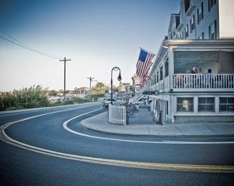 Coastal Americana Fine Art Photography   Matted Photography Print   Greeting Card   Coastal Decor   Summer decor   Small town Photo