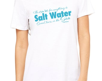 The Cure for Anything is Salt water t-shirt | Quote t-shirt |Scuba Diving T-Shirt | Women scuba diver tank |Ocean lover gift | scuba gift