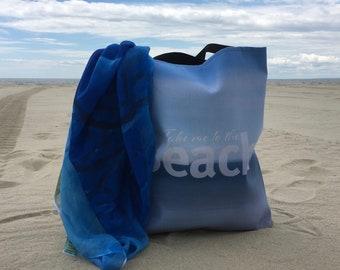Take me to the Beach Tote Bag | Beach Lover Tote Bag | Beach Bride Tote Bag | Market Bag | Beach Art Tote Bag | Beach Bags And Totes | Gift