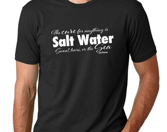 The Cure for Anything is Salt water men's t-shirt | Men's Quote t-shirt | Scuba Diving T-Shirt |Ocean lover gift | scuba gift
