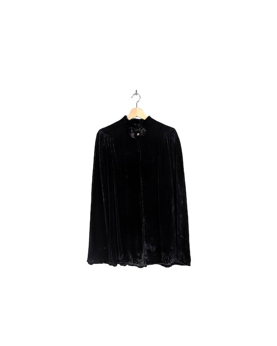 cape mye' | vtg 1930s silk velvet cape coat | vint
