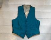 Vintage Silk Waistcoat by S. Fisher, Burlington Arcade 1960s 70s