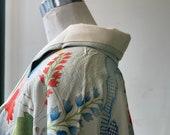 Long kimono with swinging sleeves, Furisode Kimono,