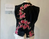 Antique Waistcoat with New Hand Stitched Applique Flowers