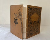 Handbound notebook 'Our Next-Door Neighbour' Sketchbook journal, Novel, Coptic binding