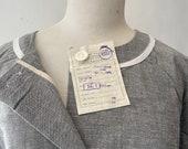 Vintage Chore Dress, Unworn Deadstock Polish workwear, Cotton Dress