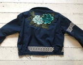 Revamped Reflective Work Jacket with Flowers