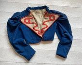 Ex Theatre costume jacket, Cropped blue jacket
