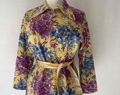 70s Floral Top,
