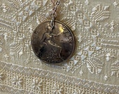 1901 Victorian Penny Pendant Necklace