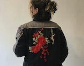 Appliqué work jacket