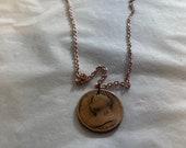 1900 Victorian Half Penny Pendant Necklace