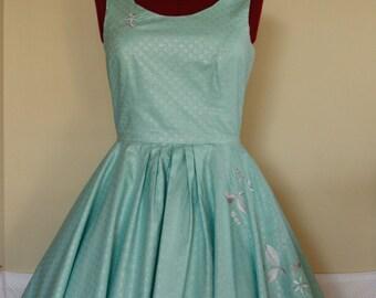 Vanilla Bean Swing Dress - embroidered custom made swing dress