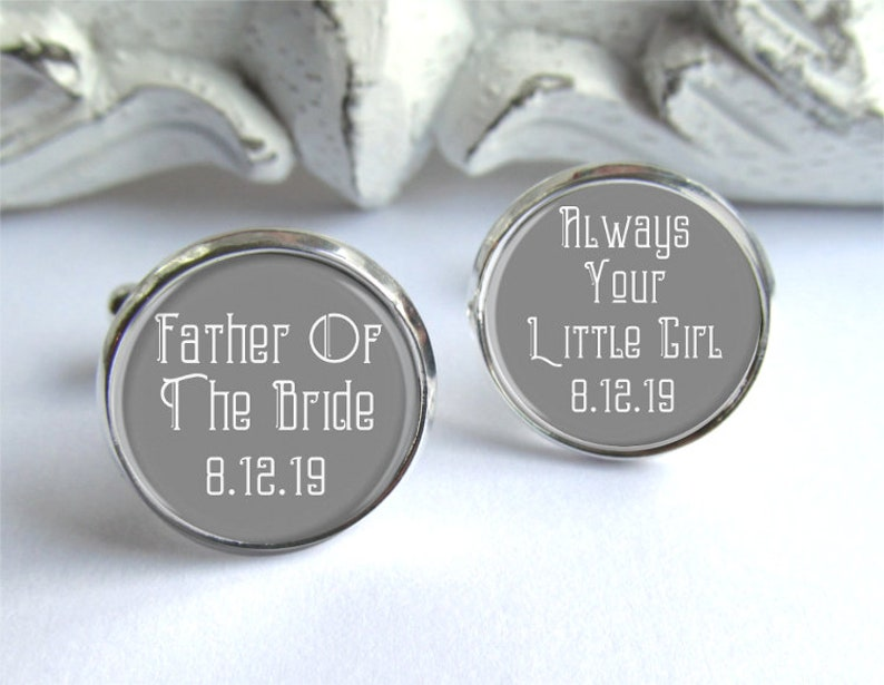 Father Of The Bride Gift Always Your Little Girl Cufflinks Wedding Cufflinks For Dad