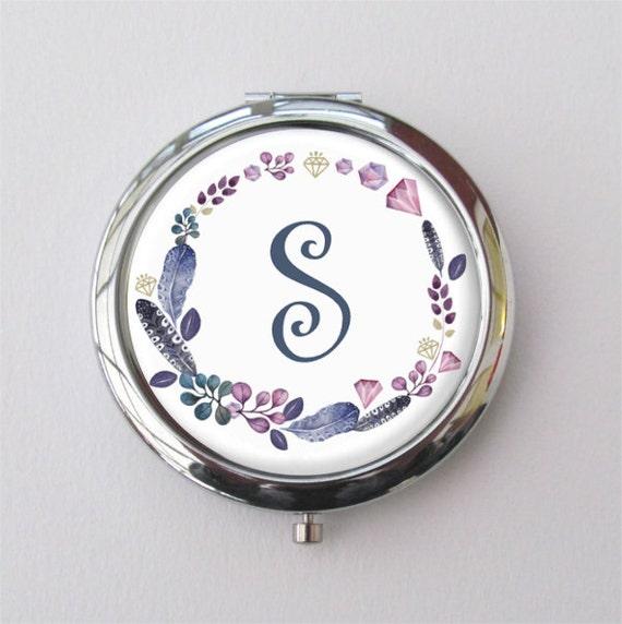 personnalis miroir compact cadeau de demoiselle dhonneur. Black Bedroom Furniture Sets. Home Design Ideas