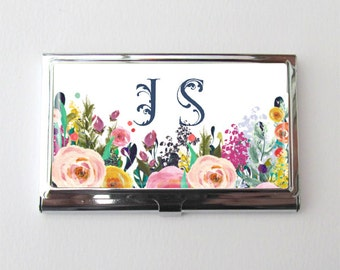 Business Card Case, Personalized Business Card Holder, Graduation Gift