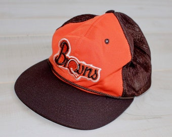 2109841e8 Vintage 80s Cleveland Browns Snapback Hat