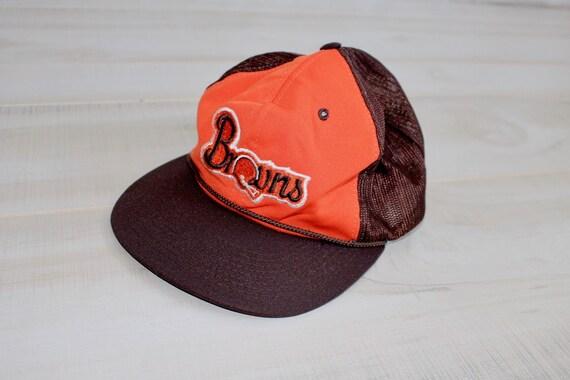 Vintage 80s Cleveland Browns Snapback Hat NFL Hat Football  ca25f09372f