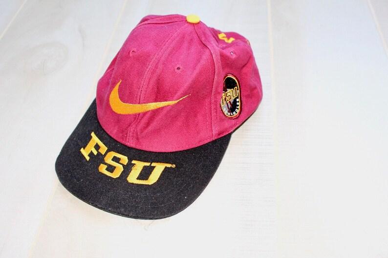 dcdeb7e8f Vintage 90s Nike Florida State Univeristy Snapback Hat, College Sports,  Seminoles, Baseball Cap, 1990s
