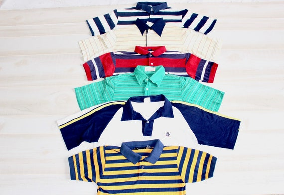 Retro France Flag Rugby Jersey 70s Polo Vintage Old Style Sweater Blue Sport Top