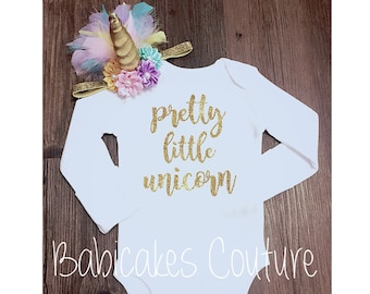 Pretty Little Unicorn, Unicorn Baby Outfit, Newborn Girl Take Home Outfit, Pretty Little Liars, Newborn Photo Outfit, Baby Girl Clothes