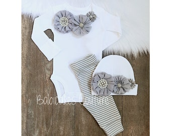 927603630 Baby girl coming home outfit winter