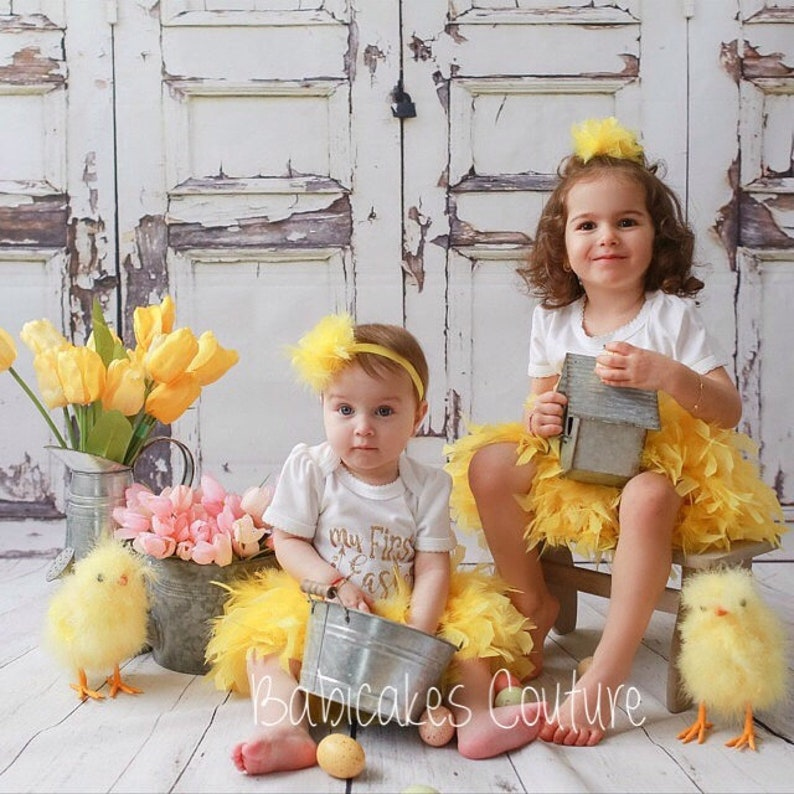 Yellow Feather Bloomer Feather Diaper Cover Yellow Feather Skirt Feather Bloomer Yellow Feather Tutu Yellow 1st Birthday Cake Smash