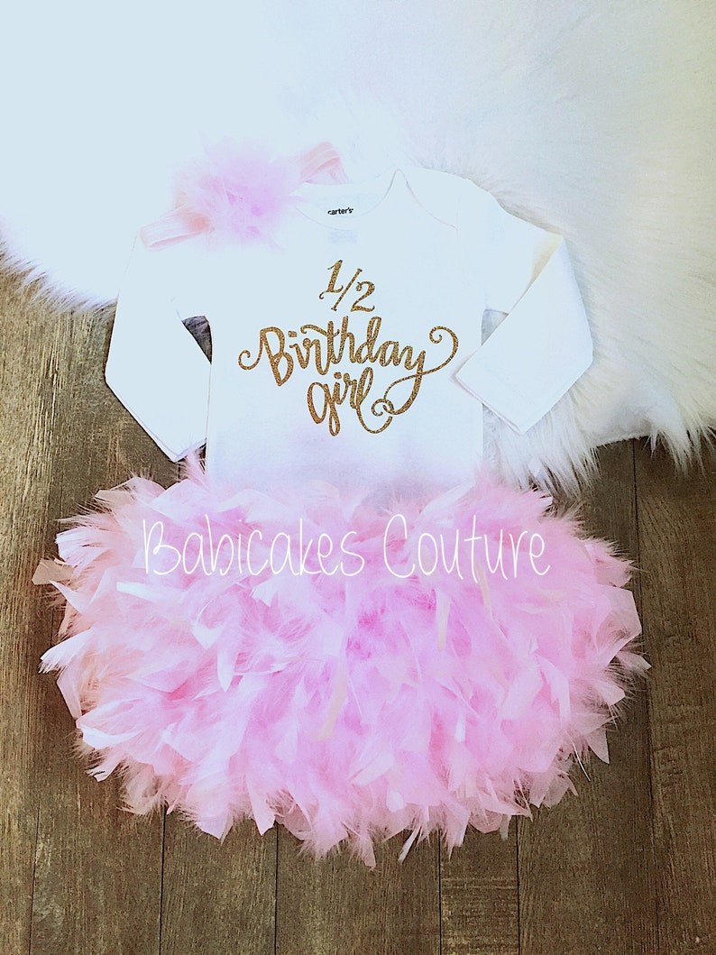 81592a440 1/2 Birthday Girl Outfit Half Birthday Outfit Girl 6 Month | Etsy