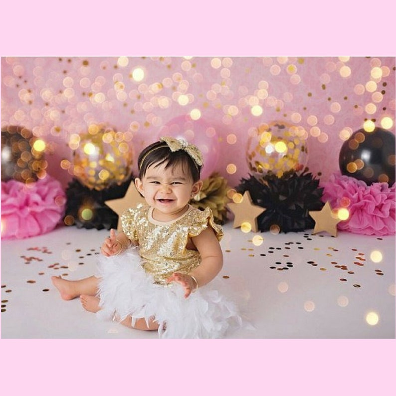 Mermaid Feather Bloomer Mermaid Birthday Outfit Mermaid Cake Smash Outfit Mermaid 1st Birthday Gold Sequin Bodysuit Under The Sea Outfit