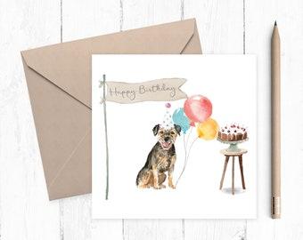 Border Terrier Birthday Card - Border Terrier - gift for dog lovers - Border Terrier Owner - Border Terrier gift