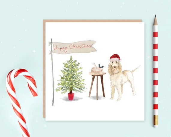Spinone Italiano Christmas Card Pack Of 10 Christmas Gift Etsy