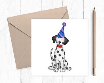 Dalmatian Birthday Card - Dalmatian - 101 dalmatians - birthday cards - ideal for dog lovers