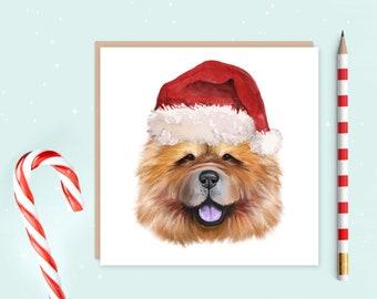 Chow Chow Christmas Card - Chow Chow Card - Chow Chow Christmas Gift - Card for dog lover - Chow Chow owner gift - Chow Chow Dog