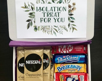 Coffee and Biscuits Gift - Personalised Present - Personalised Gift - Letterbox Gift - Isolation gift - care worker gift - coffee & biscuits