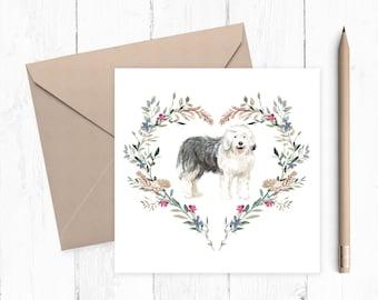 Old English Sheepdog Birthday Card - Old English Sheepdog - gift for dog lovers - Old English Sheepdog Owner - OES Dog