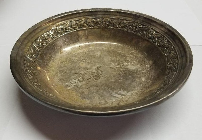 Imported From Abroad Nice Antique Sterling On Bronze Bowl! Metalware
