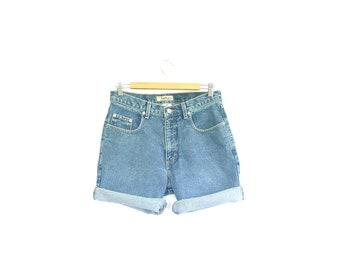 High Waisted Jean Shorts. Vintage 90s Guess Denim Shorts. 30 Waist. Size Medium