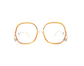 35ffce5b7724 Red - Clear Glasses Frames. Vintage 1980s Oversize Eyeglasses. Statement  Glasses