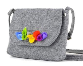 424eaa607903 Felt purse for girl Bear purse for kid Bear purse