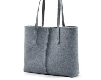 7c8642806b Gray minimalist felt handbag