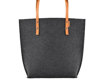 30754cc32f Felt bag with leather handles