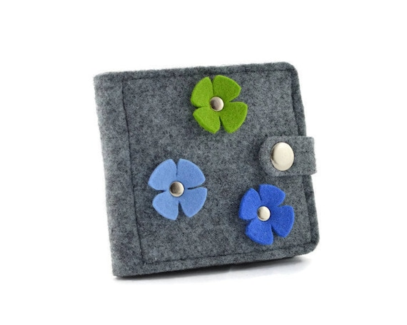 colorful Floral Denim Wallet